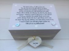 Shabby Personalised Chic Gift Will You Be My Bridesmaid? Maid Matron Of Honour